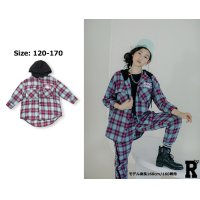 【トップス】RD 20 K-POP STYLE PLAID HOODIE TOPS