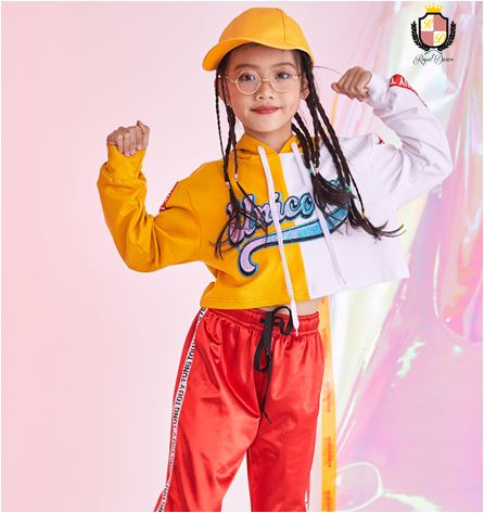 b172f2c7ff1f3  クロップトップ Yellow White Croptop クロップトップ キッズダンス ジャズ ヒップホップ ストリート ガールズ 衣装  商品 NO231